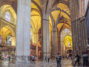 people in a carhedral in Seville