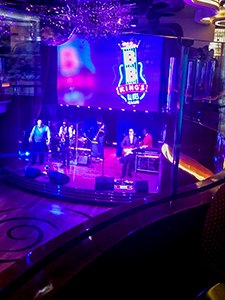 a jazz club on the Konigsdam