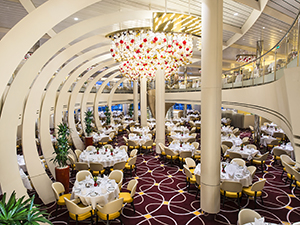 dining room on the Koningsdam