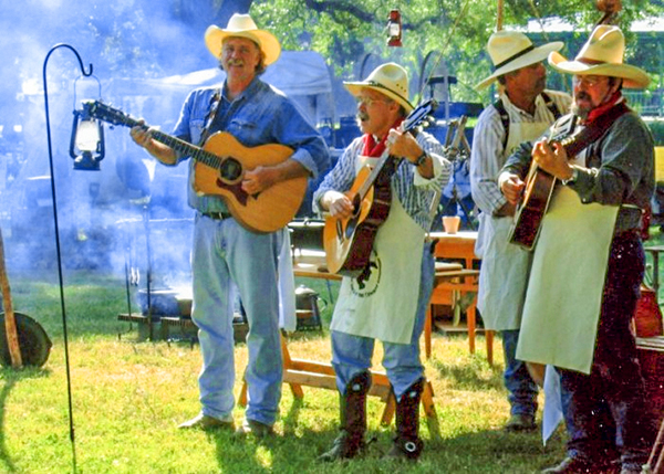 singing cowboys on the Chisholm Trail in Texas