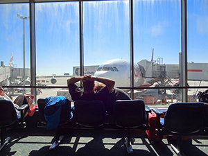 an airport lounge - save airfare