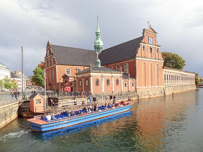 people in a tour boat in Copenhagen, Denmark