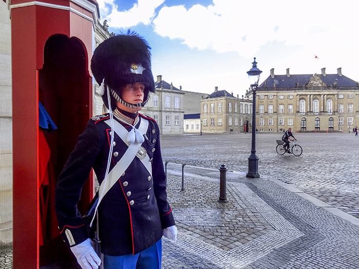 a palace guard in Copenhagen, Denmark