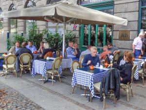a cafe in Copenhagen, Denmark