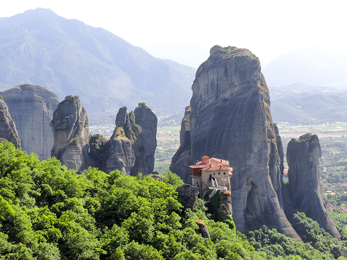 huge rock outcoppings in Meteora