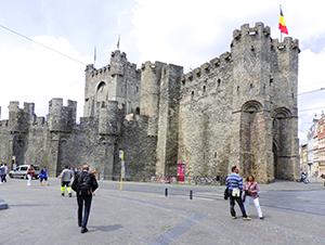 a castle in Ghent, Belgium