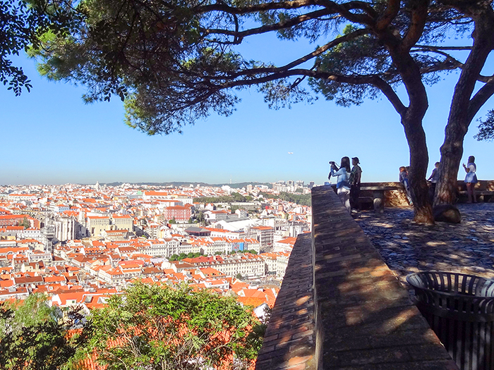 people looking out over Lisbon, Portugal
