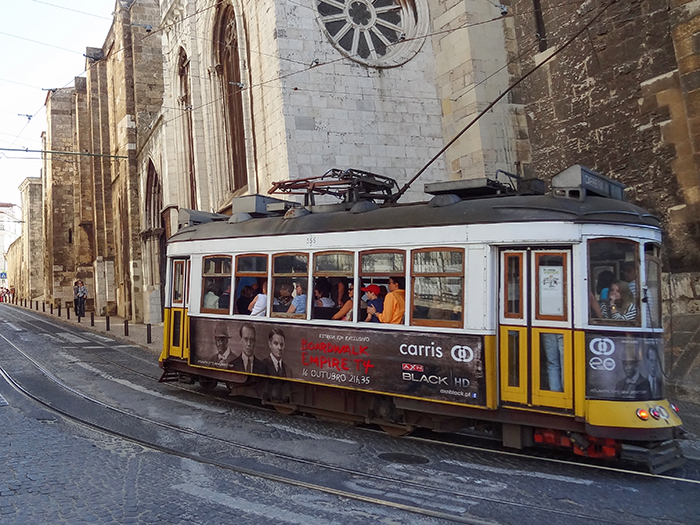 A trolley in Lisbon, Portgual