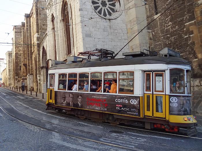 A trolley in Lisbon, Portgual