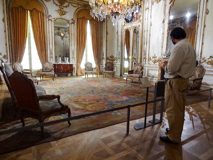 man in a museum in Lisbon, Portgual