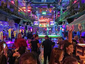 a crowded club in South Beach Miami