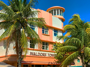 an art deco hotel in South Beach Miami