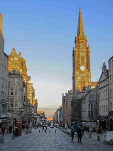 old building at sunset in Edinburgh, Scotland