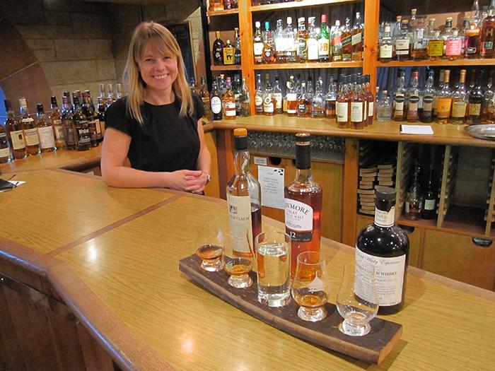woman at a bar in Edinburgh, Scotland