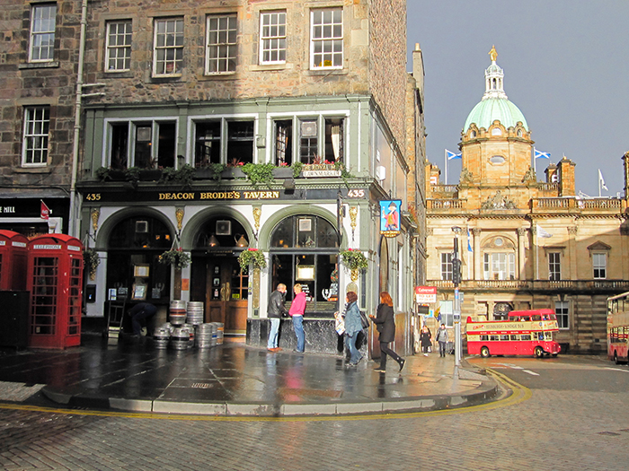 old buildings in Edinburgh, Scotland