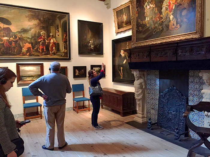 visitors in a museum in Amsterdam