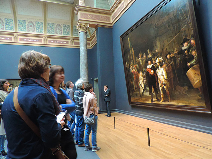 a huge painting in a Museum in Amsterdam