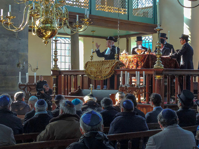 a synagogue in Amsterdam
