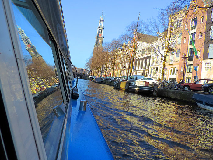 buildings on a canal in Amsterdam