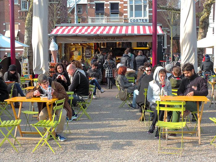 a café in Amsterdam