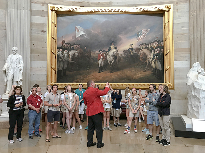 people on a tour in Washington