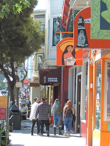 colorful shops in San Francisco