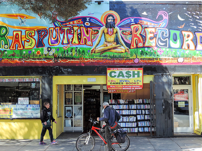 a store painted with psychedelic colors in San Francisco