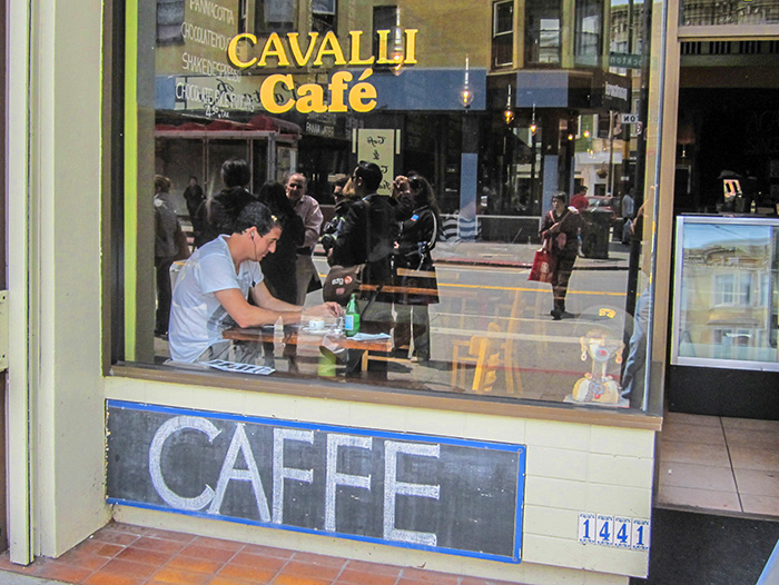 a cafe in San Francisco