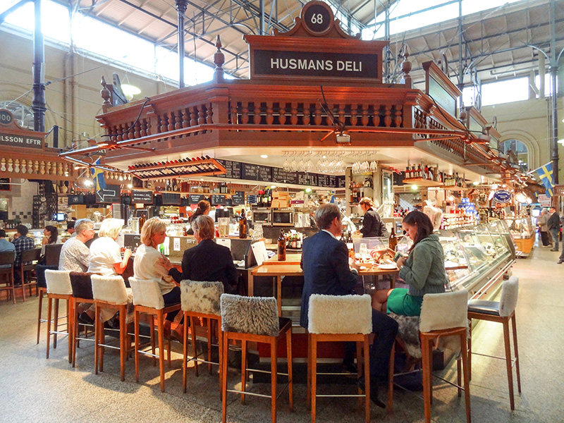 people in a food hall