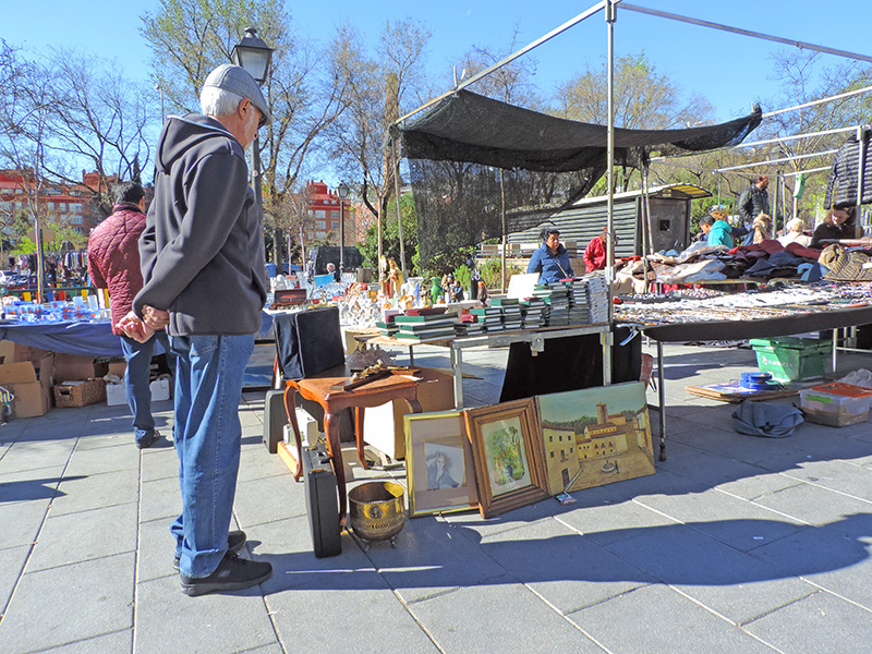 a man at a flea market