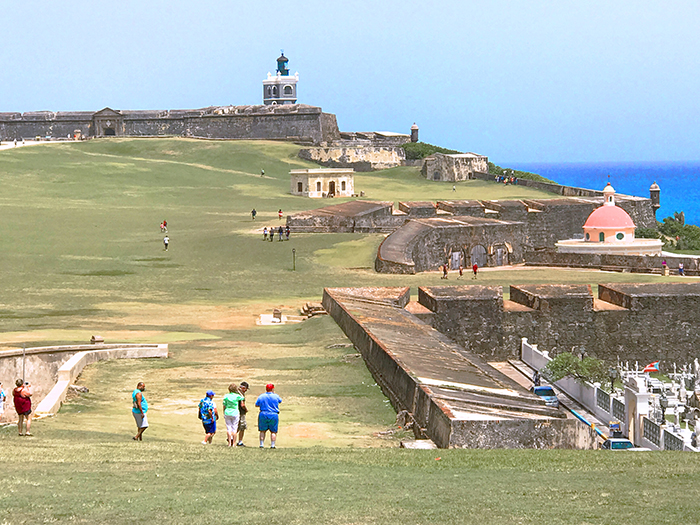 people on a large field in San Juan