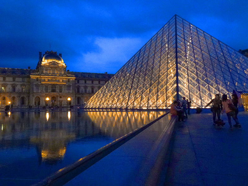 glass pyramid Budget Travel Tips