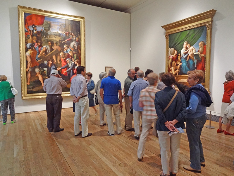 people in a museum in Madrid