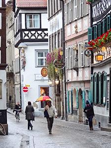 a city street in Bavaria