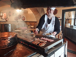 woman at a gril in Bavaria