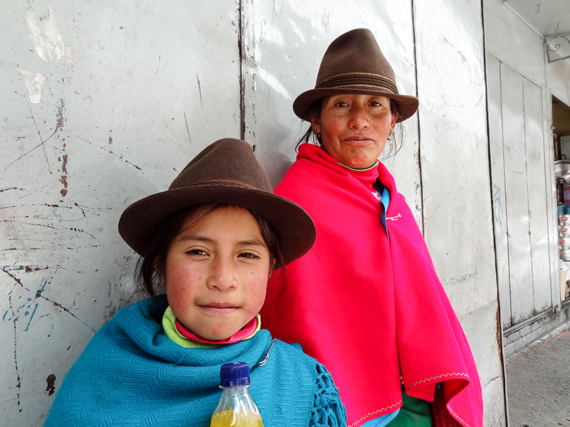 mother and daughter in Cuenca, Ecuador