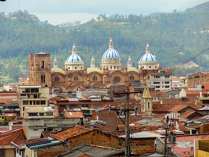 rooftops in Cuenca, Ecuador
