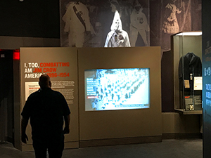 a museum exhibit in Memphis, Tennessee