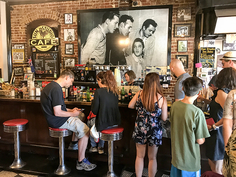 people in a cafe in Memphis, Tennessee