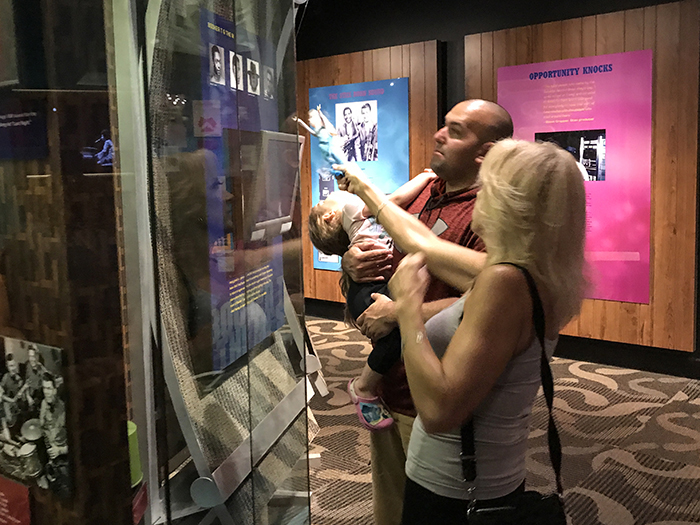 people in a museum in Memphis, Tennessee