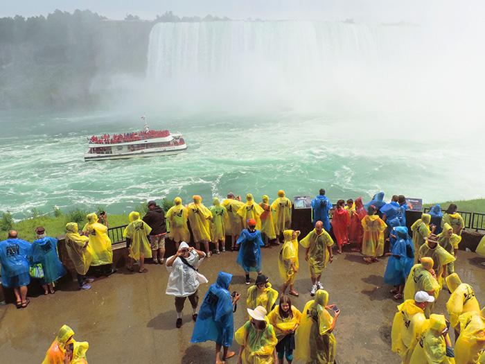 people at Niargara Falls near Toronto