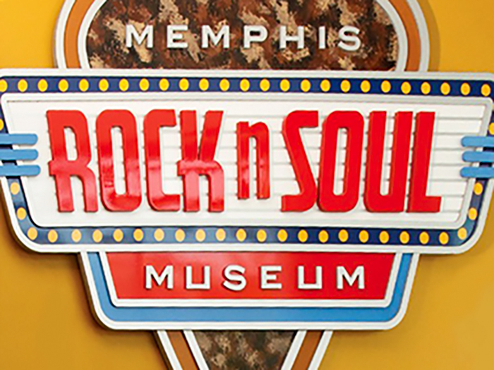 a museum sign in Memphis, Tennessee