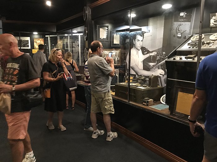 people viewing a museum exhibit in Memphis, Tennessee