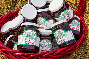 jams in a basket in Door County, Wisconsin