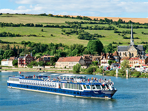 a river cruise ship in a survey of the best cruises