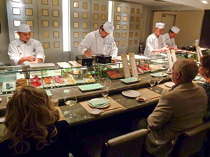 Sushi chefs on a Pacific cruise