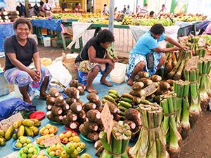 a native market see on a Pacific island
