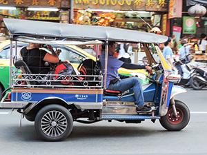 A tuk-tuk in Bangkok