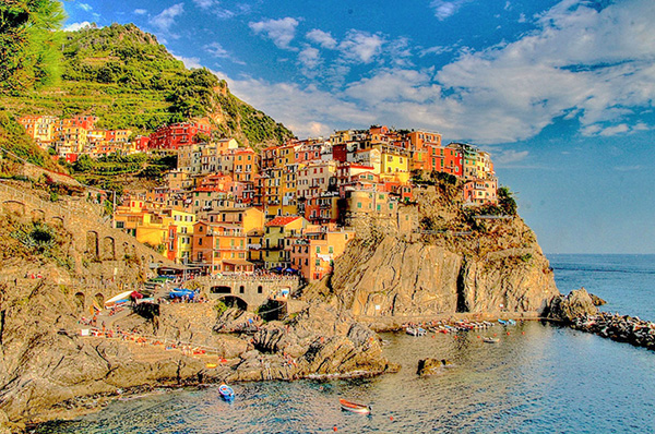 an old village on the sea at sunset top 10 in Italy
