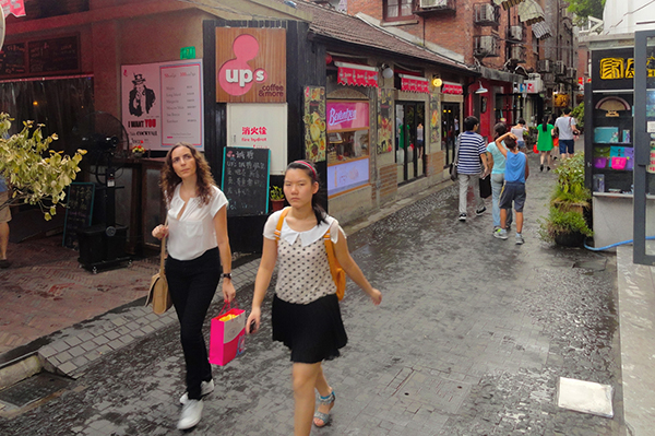 young women walking along a street top 10 in Shanghai